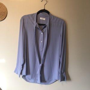 Babaton size xs long sleeve purple blouse.